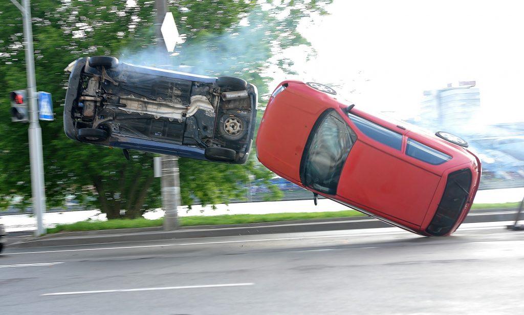 Переворот двух авто