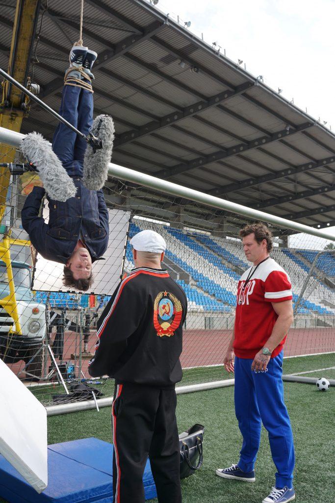 Russian stuntman stunts