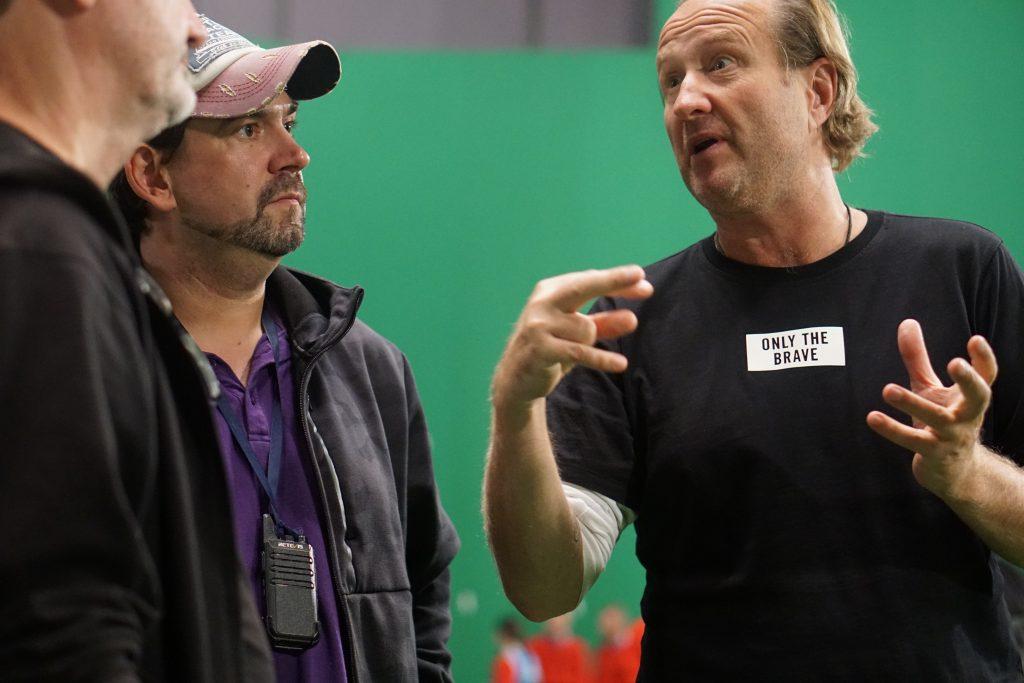 Stunt coordinator Alex Silkin and director Marius Weisberg  stuntmen