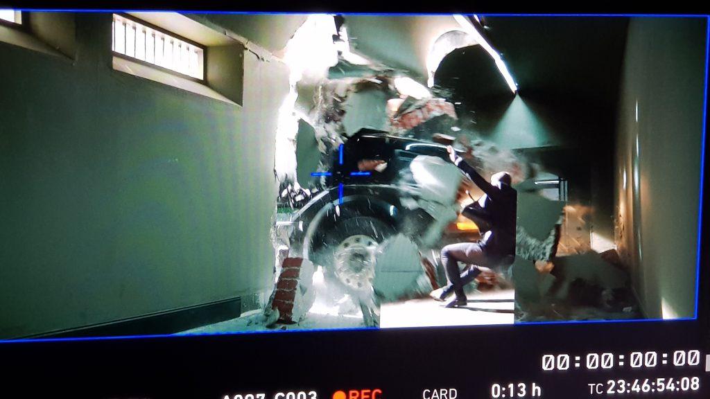 """Рабочий момент съемок фильма """"Миллиард"""" (кадр с плейбека)."""